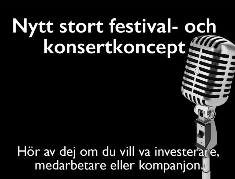 Nytt stort festival - och konsertkoncept